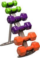 Body-Solid Vinyl Dumbell Rek