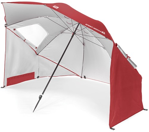 Sport-Brella  Strandtent - Windscherm - Parasol XL - Rood