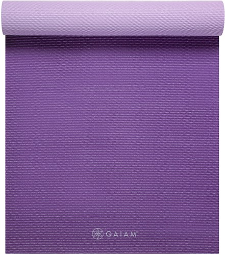 Gaiam 2-Color Yoga Mat - 6 mm - Plum Jam