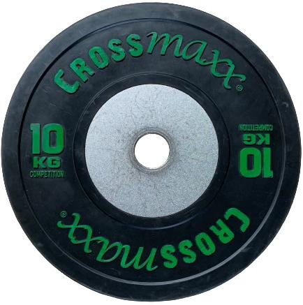 Lifemaxx Crossmaxx Competition Bumper Plate - Halterschijf - Zwart -  50 mm - 10 kg