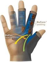 Harbinger BioForm Fitness Handschoenen - Black/Blue-3