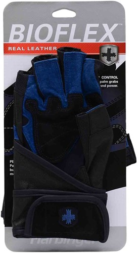 Harbinger BioFlex WristWrap - Black/Blue-3