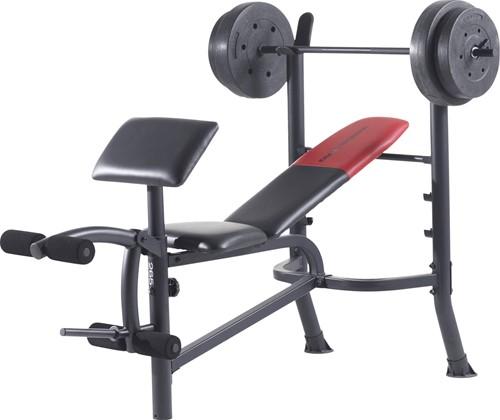 Weider Pro 265 Halterbank - Inclusief halterset van 36 kg - Tweedekans