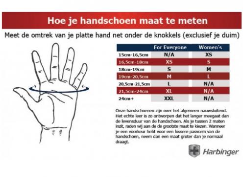 Harbinger Power StretchBack 2 Fitness Handschoenen - S-3