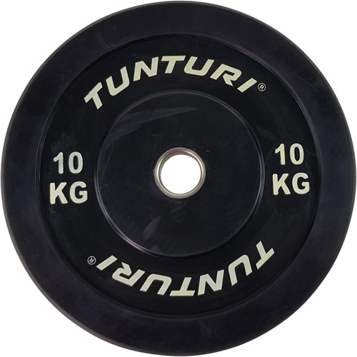 Tunturi Bumper Plate - Halterschijf - Zwart - 10 kg