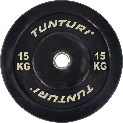 Tunturi Bumper Plate 15kg Black