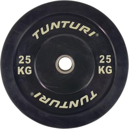 Tunturi Bumper Plate - Halterschijf - Zwart - 25 kg