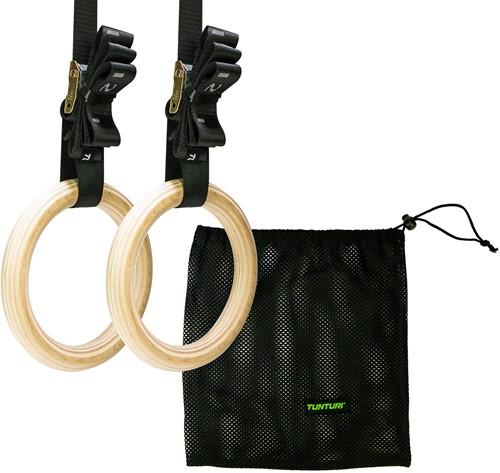 Tunturi Gymnastic Rings - Hout - Inclusief Riem