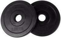 Tunturi Rubber schijf 1.25 kg (30 mm) 2 stuks