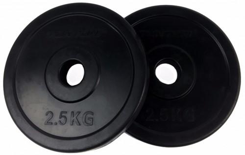 Tunturi Rubber schijf 2.5 kg (30 mm) 2 stuks