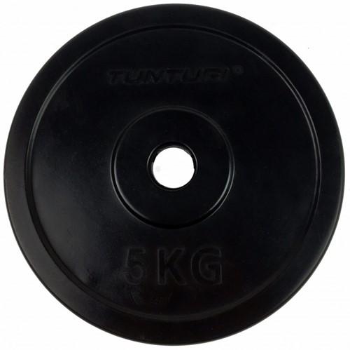 Tunturi Rubberen Halterschijf - 30 mm - 5 kg