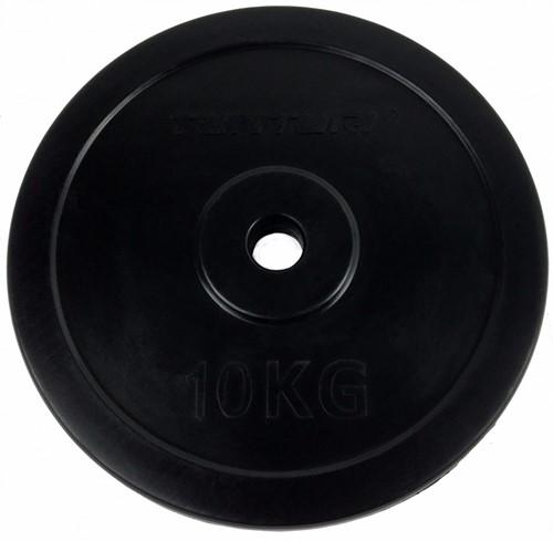 Tunturi Rubber schijf 10 kg (30 mm)