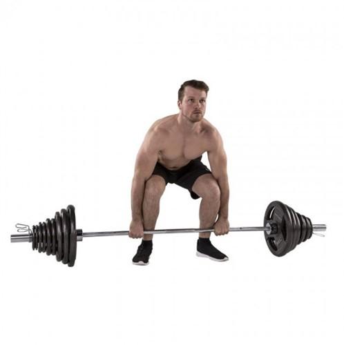 Tunturi 100 kg Olympische Tri-Grip Barbell Set-3