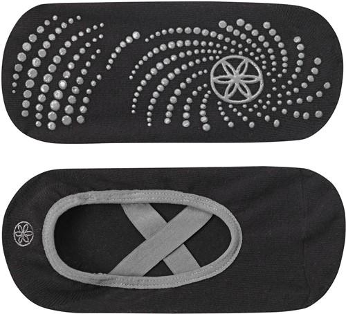 Gaiam Grippy Yoga Barre Socks - Anti-slip Yogasokken - Black / Grey