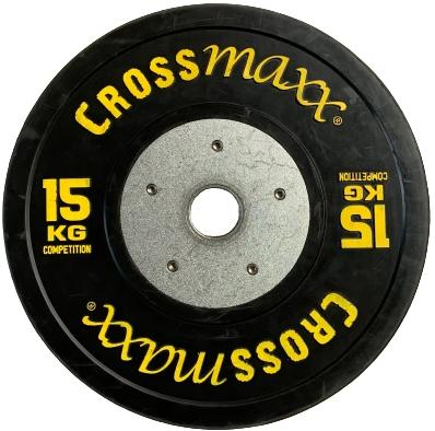 Lifemaxx Crossmaxx Competition Bumper Plate - Halterschijf - Zwart -  50 mm - 15 kg