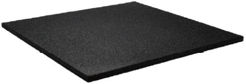 Sportvloer Tegel met Fijne Korrel - 100 x 100 x 1,5 cm - Zwart