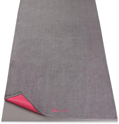 Gaiam Grippy Yoga Handdoek met Anti-slip - Pink/Storm