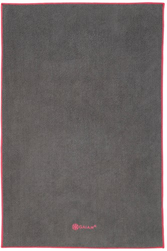 Gaiam Hand Towel Yogahanddoek - Grijs / Roze