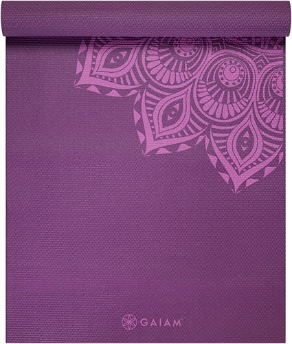 Gaiam Yoga Mat - 6 mm - Purple Mandala