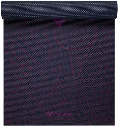 Gaiam Yoga Mat - 6 mm - Plum Sundial