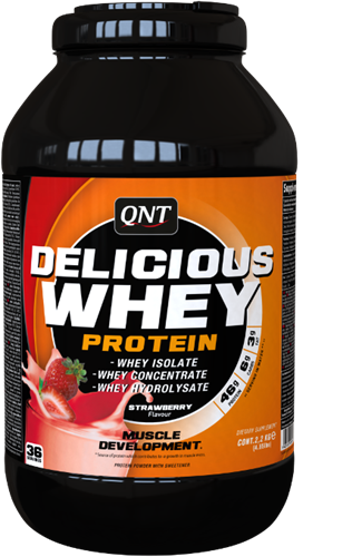 QNT Delicious Whey Protein - 2200g - Strawberry
