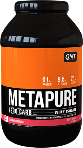 QNT Koolhydraatarm Zero Carb Metapure - 908g - Strawberry