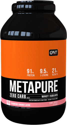 QNT Koolhydraatarm Zero Carb Metapure - 2000g - Strawberry/Banana
