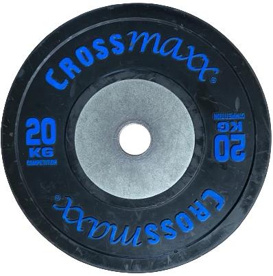 Lifemaxx Crossmaxx Competition Bumper Plate - Halterschijf - Zwart -  50 mm - 20 kg