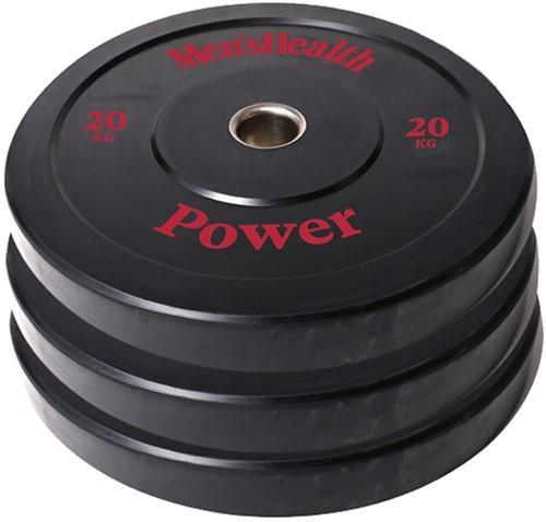Men's Health Bumper Plate - Halterschijf - 50 mm - 20 kg