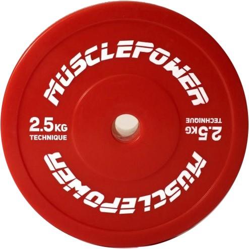 Muscle Power Olympische Techniek Plate Halterschijf - 50 mm - 2,5 kg