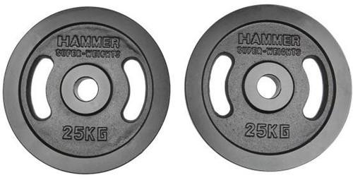 Hammer Olympische Gietijzeren Halterschijven - 2 x 25 kg