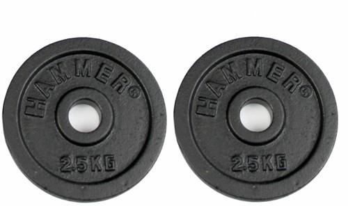 Hammer Gietijzeren Halterschijven - 30 mm - 2 x 2,5 kg