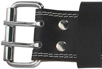 Harbinger 6 Inch Padded Leather Belt - Silver Printed-3