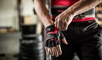 Harbinger FlexFit Wash & Dry Fitness Handschoenen Black/Red sfeerfoto