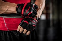 Harbinger FlexFit Wash & Dry Fitness Handschoenen Black/Red sfeerfoto 2