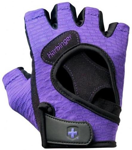 Harbinger Womens FlexFit Fitness Handschoenen Paars-3