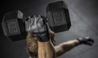 Harbinger bioform wristwrap fitness handschoenen - grey black sfeerfoto