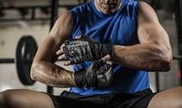 Harbinger bioform wristwrap fitness handschoenen - grey black sfeerfoto 2