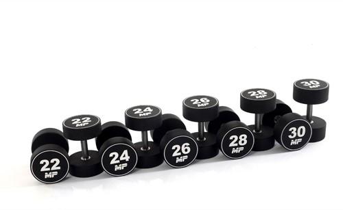 Muscle Power Urethaan Dumbbell Set - 10 x 22-30 kg