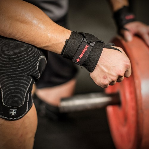 Harbinger Pro Thumb Loop Wrist Wrap - lifestyle 2