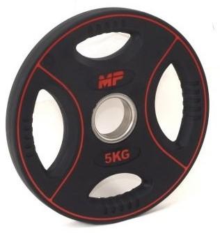 Muscle Power PU 4-Grip Halterschijf - 50 mm - 5 kg