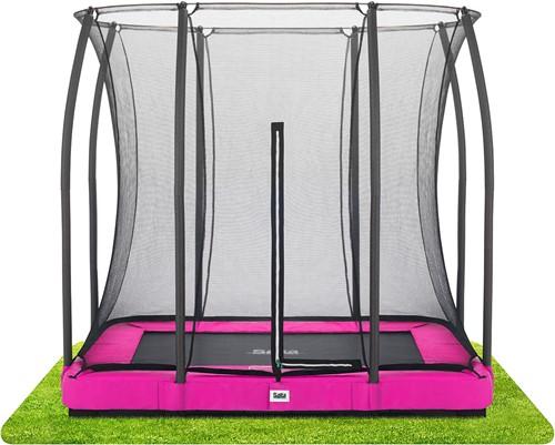 Salta - Comfort Edition Ground Trampoline met Veiligheidsnet- 153 x 214 cm - Roze