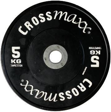 Lifemaxx Crossmaxx Competition Bumper Plate - Halterschijf - Zwart -  50 mm - 5 kg