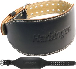 Harbinger 6 Inch Padded Leather Belt - XXL - Verpakking beschadigd