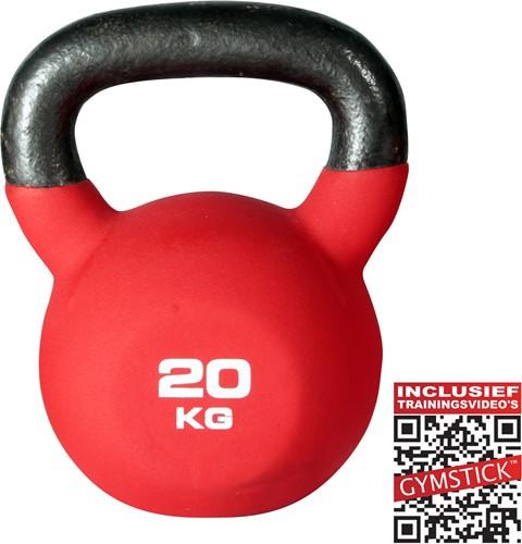 Kettlebell Pro 20 Kg Neopreen Met Trainingsvideo
