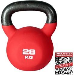 Kettlebell Pro 28 Kg Neopreen Met Trainingsvideo's