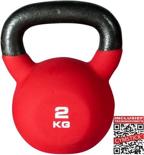 Kettlebell Pro 2 Kg Neopreen Met Trainingsvideo