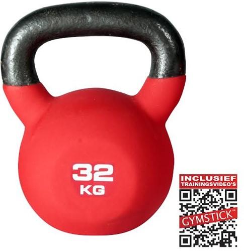 Gymstick Neopreen Kettlebell Pro - 32 kg - Met Trainingsvideo's