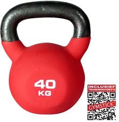 Gymstick Kettlebell Pro 40 Kg Neopreen Met Trainingsvideo's - Licht beschadigd