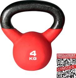Kettlebell Pro 4 kg Neopreen Met Trainingsvideo's